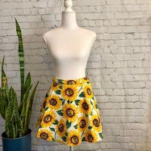 American Apparel Jeans Sunflower Skater Skirt